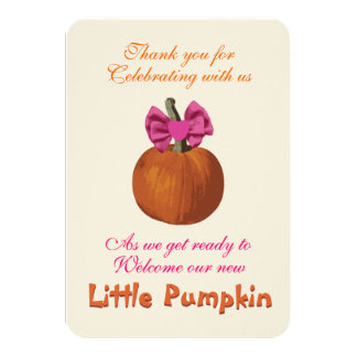 Halloween Baby Shower Thank You Card