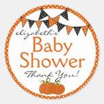 Halloween-Baby Shower Thank You Classic Round Sticker