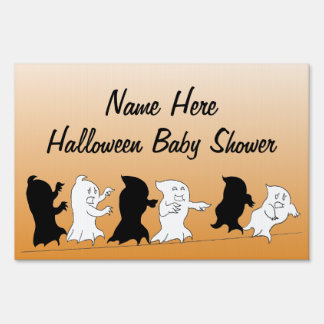 Halloween Baby Shower Yard Signs - Orange