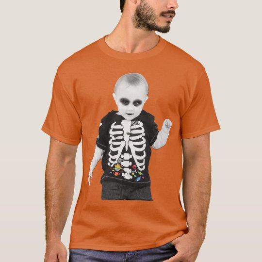 halloween baby zombie goth tshirt