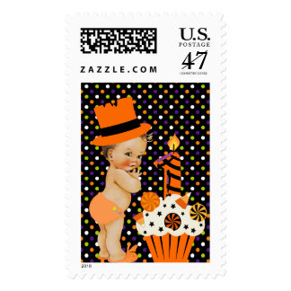 Halloween Baby's First Birthday Postage Stamp
