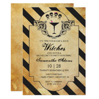 Halloween Bachelorette Party Invitation