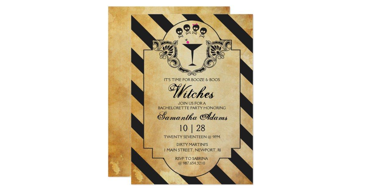 Halloween Bachelorette Party Invitation | Zazzle.com