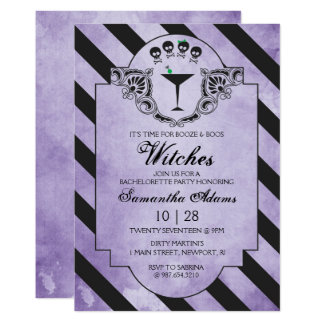 Halloween Bachelorette Party Invitation - Purple