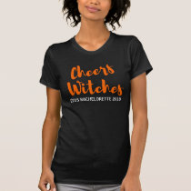 Halloween Bachelorette Party Tshirt-Cheers Witches T-Shirt