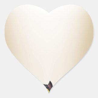Halloween Background Heart Sticker
