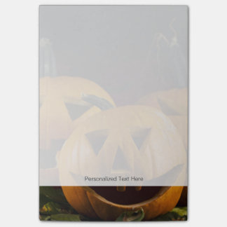Halloween Background With Pumpkins In The Grass Post-it® Notes