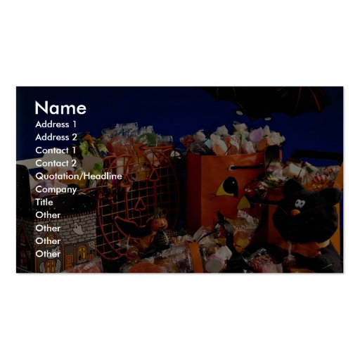 Halloween bags with candy Double-Sided standard business cards (Pack of 100)