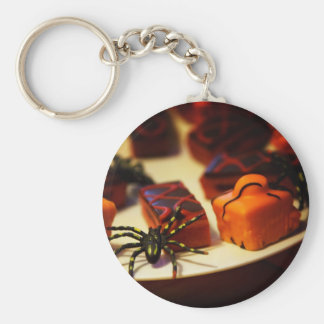 Halloween Baked Treats and Spiders Basic Round Button Keychain
