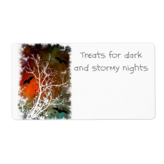 Halloween Baking or Drink mix Labels stormy night