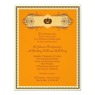 thepapershoppe Halloween Ball Costume Party Invitation
