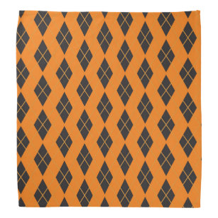 Halloween Bandana - Orange Argyle