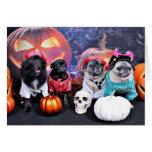 Halloween - barro amasado - ms Wiggens del oso de  Tarjetón