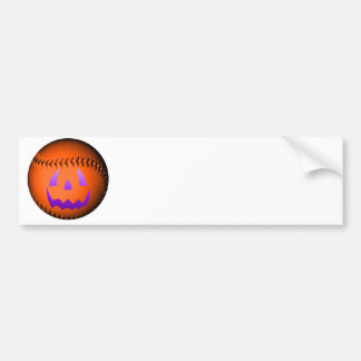 Halloween Baseball Bumper Sticker