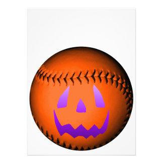 Halloween Baseball Invites