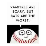 Halloween Baseball Postcard