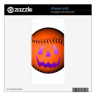 Halloween Baseball Skin For The iPhone 4S