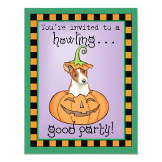 """Halloween Basenji Invitación 4.25"""" X 5.5"""""""
