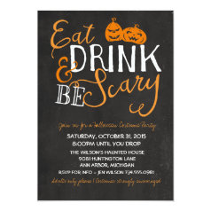 Halloween Bash, Costume Party, Adult Party Invitation
