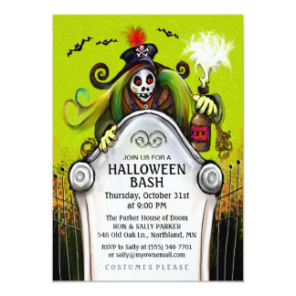 Halloween Bash Ghoulish Party Invitation