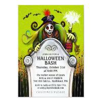 Halloween Bash Ghoulish Party Invitation