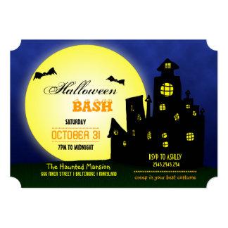 Halloween Bash Haunted Castle | Bats | Moon Card
