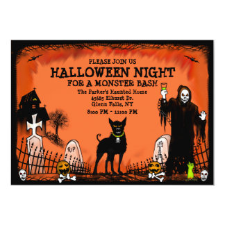 Halloween Bash - Invitation - Graveyard Dog