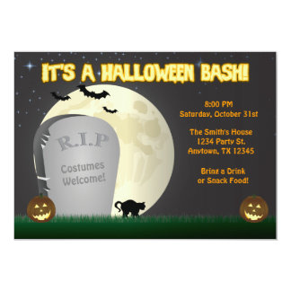 Halloween Bash Party Invitation