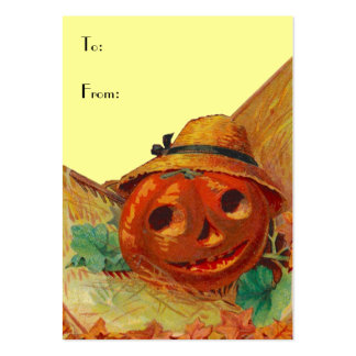 HALLOWEEN BASKET TAGS ~ GIFT TAG CARDS & BUSINESS LARGE BUSINESS CARDS (Pack OF 100)