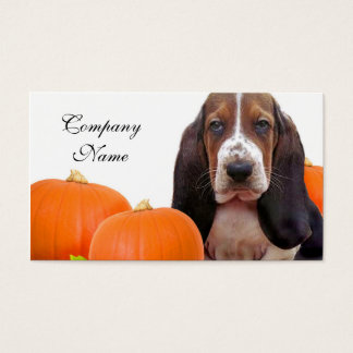 Halloween Basset Hound Business Card