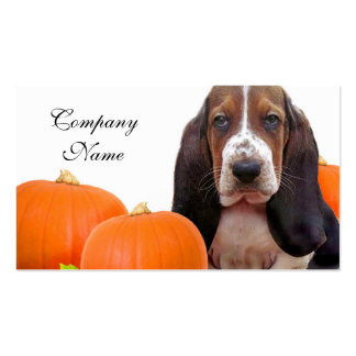Halloween Basset Hound Business Cards