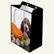 Halloween Basset Hound  medium Gift Bag