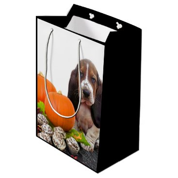 Halloween Basset Hound  medium Gift Bag
