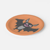 Halloween Bat 7 Inch Paper Plate