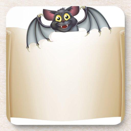 Halloween Bat Banner Coasters