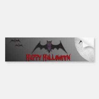 Halloween Bat Bumper Sticker Car Bumper Sticker