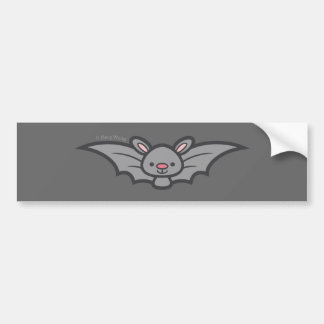 Halloween bat bumper sticker