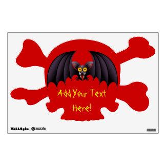 Halloween Bat Cartoon wall decal