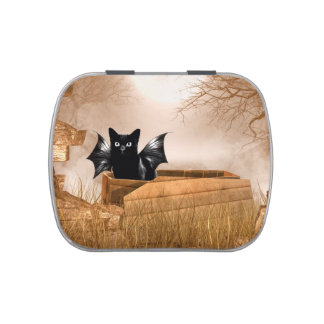 Halloween bat cat jelly belly candy tins