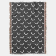 Halloween Bat Chalkboard Pattern Throw