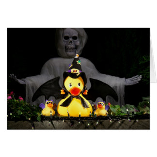 Halloween Bat Ducky Woman Protects and Defends Card