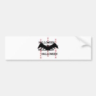 halloween bat icon bumper sticker