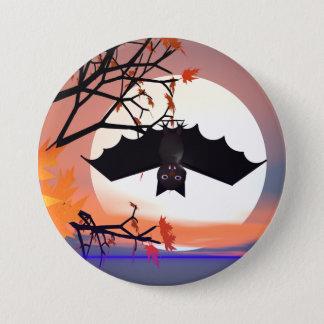 Halloween Bat in Tree Button