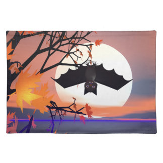 Halloween Bat in Tree Placemat