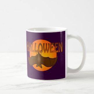 Halloween Bat Just Hangin' Classic White Coffee Mug