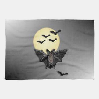 Halloween Bat Kitchen Towels