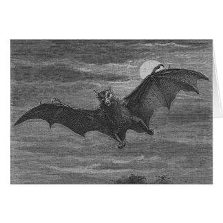 Halloween Bat Lithograph Card