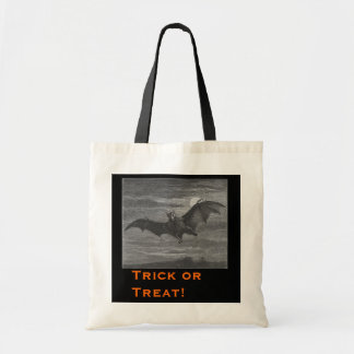Halloween Bat Lithograph Tote Bag