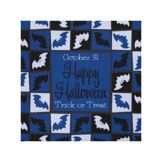 Halloween bat mosaic canvas print