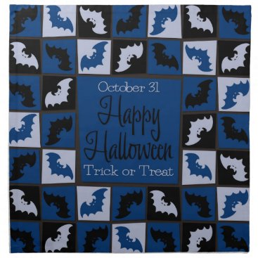 Halloween Themed Halloween bat mosaic cloth napkin